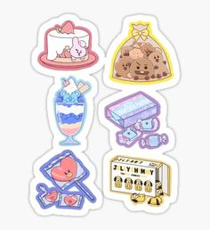 Bangtan Boys stickers featuring millions of original designs created by independent artists. Stickers Kawaii, Pop Stickers, Tumblr Stickers, Anime Stickers, Printable Stickers, Bts Drawings, Kawaii Drawings, Cute Food Art, Cute Art