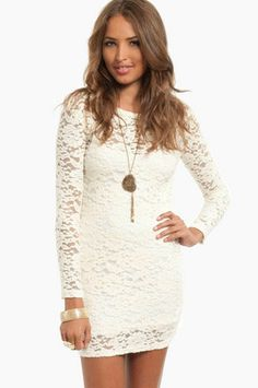 Lace Bodycon Dress $48 at www.tobi.com