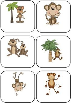 Jungle Monkey Themed Blank Classroom Labels - 48 pages $5.00