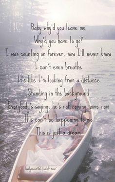 Just a Dream - Carrie Underwood -- What a wonderful song.  Don't take your loved ones for granted.