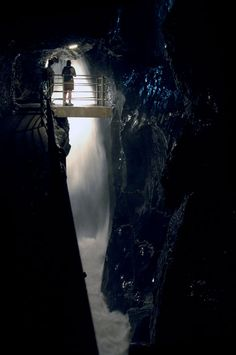 TRUMMELBACH FALLS_Europe's largest subterranean water falls located in the Lauterbrunnen Valley.