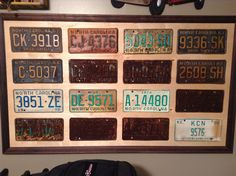 Delightful Need To Do This With Our Old License Plates.
