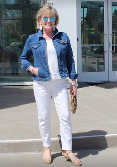 Fashion Over 50: How to Choose White Jean's