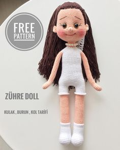 All amigurumi models are on this site.Amigurumi doll models are waiting for you on our site. Doll Amigurumi Free Pattern, Crochet Dolls Free Patterns, Crochet Doll Pattern, Amigurumi Doll, Doll Patterns, Red Pattern, Crochet Birds, Diy Crochet, Crochet Baby