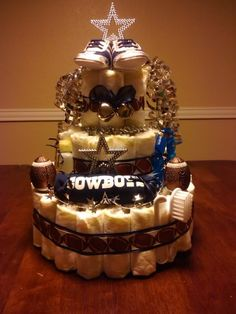Awesome Dallas Cowboys Diaper Cake Photo by melindaannsoto | Photobucket