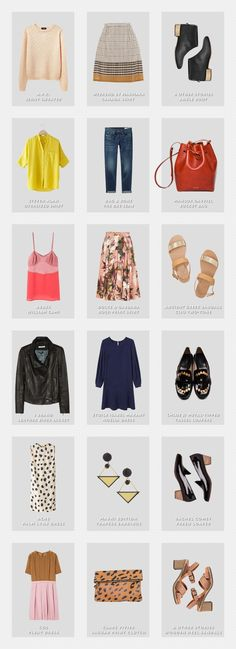 Miss Moss // Capsule Wardrobes - we love this!