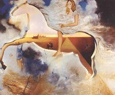 """salvadordali-art: """" Equestrian Portrait of Carmen Bordiu-Franco, 1974 Salvador Dali """""""