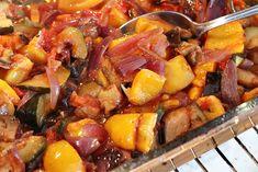 Upečená zelenina Pork, Ethnic Recipes, Sweet, Kale Stir Fry, Candy, Pork Chops