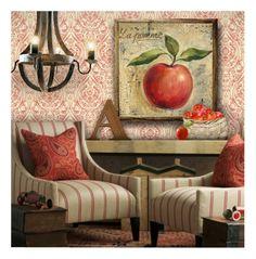 """Apple Decor"" by debraelizabeth ❤ liked on Polyvore featuring interior, interiors, interior design, home, home decor and interior decorating"