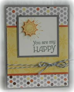 You Are My Happy - with Babycakes Paper.   National Stamping Month Exclusive - www.stampinheaven.ctmh.com