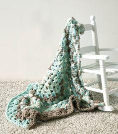 SPEEDY BABY BLANKET - Bernat® Baby Bundle™ Aqua Nest, 2 skeins Size U.S. L/11 crochet hook