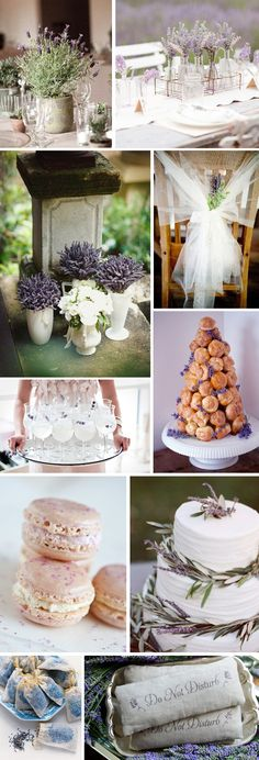 Like the Lavender ideas as part of one of the center piece vases.