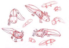 axolotls by sofmer