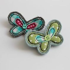 embroidered butterfly brooch by honeypips | notonthehighstreet.com