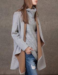 Παλτό διπλής όψης με πέτο Winter Looks 13f4a3dbb29