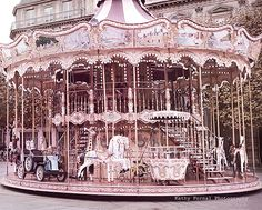 Paris Carousel Photography Paris Merry-Go-Round by KathyFornal Photo Wall Collage, Picture Wall, Pastell Wallpaper, Paris Nursery, Paris Torre Eiffel, Pink Paris, Paris Decor, Paris Photography, Paris Hotels