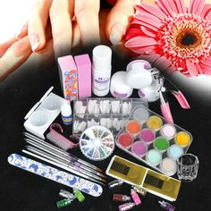 350buy Acrylic 12 Powder Liquid KITS NAILS ART TIPS KIT Clipper Brush Dish Buffer Block - 12 different colors acrylic powder with extra 3 Super Size bottle of white, clear and pink color Package with acrylic liquid and glass dish, ready for use Pour acrylic liquid into the dappen dish, use... - Nail Art Equipment - Beauty - $25.28