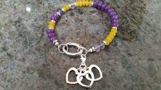 Gemstone Beaded Bracelet Fluorite & Chalcedony by GemsJewelsGirls