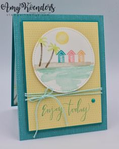 I used the Stampin' Up! Waterfront and Climbing Orchid stamp sets to create my card for the Stamp Ink Paper theme challenge this week. Here is the theme for Stamp Ink Paper #136. My card desi…