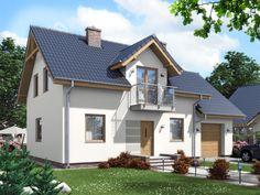 DOM.PL™ - Projekt domu ARD Modrzew 2 paliwo stałe CE - DOM RD1-72 - gotowy projekt domu