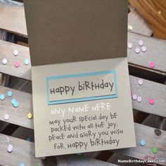Special Happy Birthday Greeting Card With Name