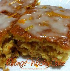 orange wacky cake - dessert without egg for Gavin