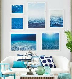 We literally could not be happier that Summer has arrived! Bring on the sunshine, beach days, and piña coladas! Here are some of our favorite beach house decor ideas of the season. Coastal Homes, Coastal Living, Coastal Style, Coastal Decor, Wc Container, Beach House Decor, Home Decor, Ocean Art, Beach Cottages