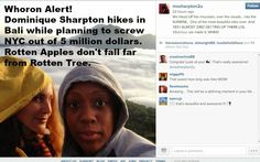 Whoron Alert - Saving The World From Stupid: Dominique Sharpton - Sues NYC Over Injured Ankle - Posts Pictures of Hiking in Bali