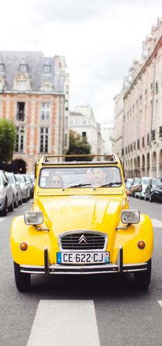 Paris is the most beautiful city in the world. Learn about Paris, France and find the best travel info on Paris here. Yellow Car, Mellow Yellow, The Places Youll Go, Places To Go, Belle France, 2cv6, My Little Paris, I Love Paris, Shades Of Yellow