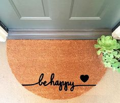 Be Happy Coir Doormat Coir Funny Doormat / by InspireLifeToday