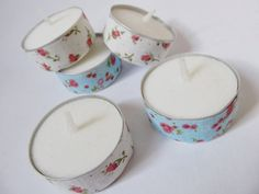 thinking out loud | beauty & lifestyle blog: DIY | Fabric/Washi tape tealights