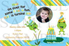 Frog Birthday Party Invitations. $15.00, via Etsy.