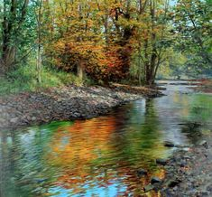 Autumn River by Eugene Conway