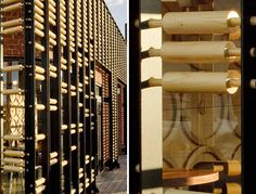 ODA architecture: breadbox cafe Facade is made of rolling pins. House Restaurant, Restaurant Design, Pizza Restaurant, Restaurant Interiors, Bakery Shop Design, Bakery Store, Unique Restaurants, Cafe Bistro, Facade Architecture