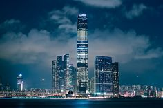 International Commerce Centre ICC At Night, Hong Kong