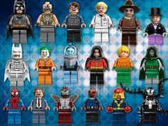 LEGO has revealed the new minfigures for DC Universe and Marvel Super Heroes at the 2012 San Diego Comic Con. Lego Ninjago, Lego Minifigs, Batman Lego, Superman, Lego News, Legos, Lego Knights, Lego Marvel Super Heroes, Marvel Dc