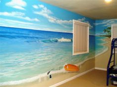 Beach themed wall murals for kids room decor kids bedroom interior