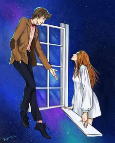 """The Doctor: Other planets. Wanna check some out?// Amy: What does that mean?// The Doctor: It means, well.// Amy: Where?// The Doctor: Wherever you like."" -- Doctor Who/ - Zerochan Amy Pond, Doctor Who Fan Art, Fanart, My Sun And Stars, 11th Doctor, Hello Sweetie, Don't Blink, Geronimo, Bad Wolf"
