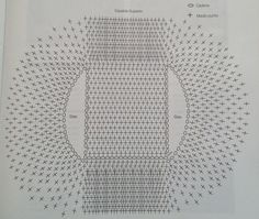 Diagrama de chaleco de crochet