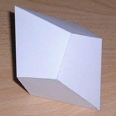 Paper model square trapezohedron (a stencil to create a square trapezohedron)