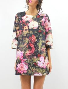 Tasmin floral neoprene shift dress
