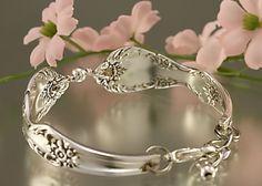 Silver Spoon Bracelet Grand Elegance by by theartandglassstudio, $26.00