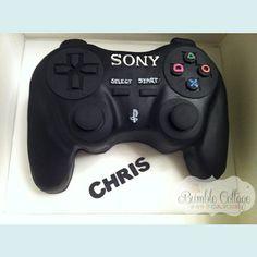 PlayStation Controller Cake cakepins.com