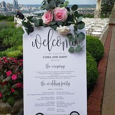 3 Sizes Wedding Program Sign Poster - Modern Wedding Welcome Sign - Editable PDF Template Instant Do Seating Chart Wedding Template, Seating Plan Wedding, Seating Charts, Wedding Reception, Wedding Program Sign, Title Card, Wedding Welcome, Templates, This Or That Questions