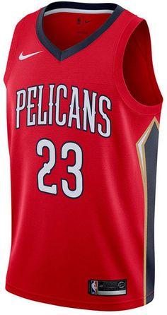 Nike Men s Anthony Davis New Orleans Pelicans Statement Swingman Jersey -  Red Navy S cd8d0e227