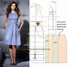 Patrones para hacer vestidos de fiesta cortos06