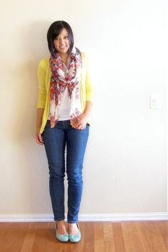 """So much color!!!!  My eyes got excited from seeing this """"Spring Overload"""" outfit from puttingmetogether.com."""