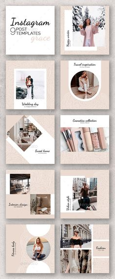 Social Media Branding – How Can You Create a Brand By the Wise Use of Content? Instagram Design, Ideas Fotos Instagram, Instagram Banner, Instagram Feed Layout, Instagram Collage, Web Design, Social Media Design, Layout Design, Portfolio Design Layouts