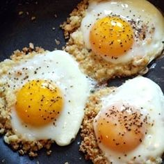 Breadcrumb-Fried eggs... easy and oh so delicious.
