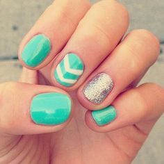 Mint nails  #mint #nails #nailart #art *#beauty #nailedit